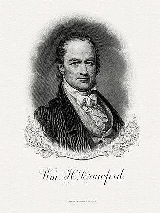 William H. Crawford - Bureau of Engraving and Printing portrait of Crawford as Secretary of the Treasury