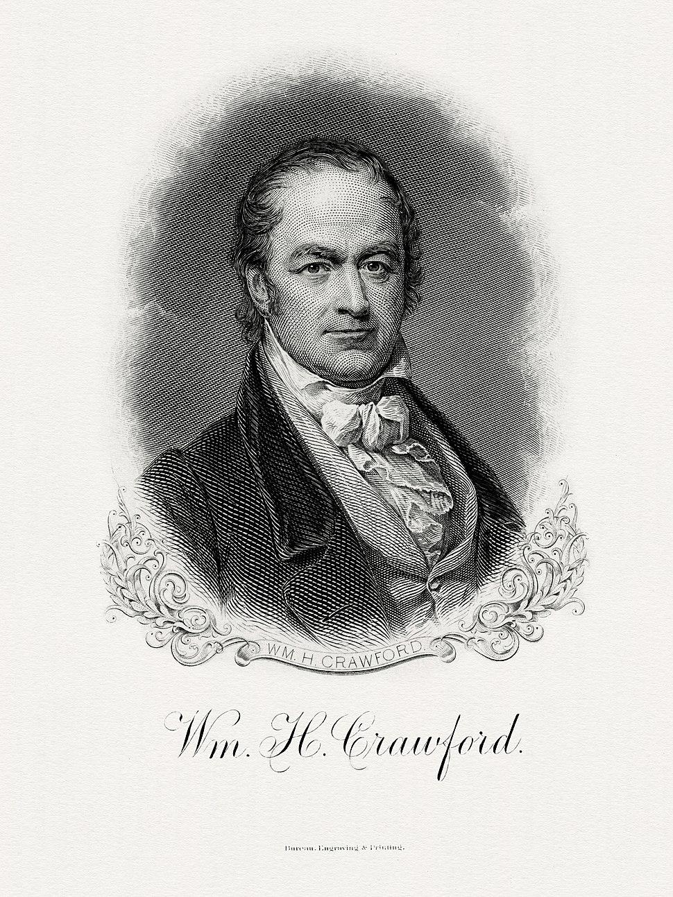 CRAWFORD, William H-Treasury (BEP engraved portrait)