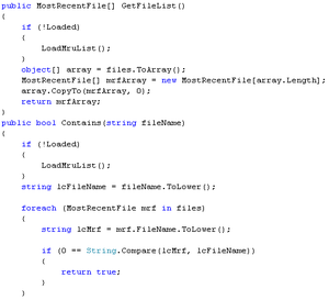 An example of C# code.