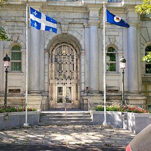 Lieutenant Governor of Quebec - The entrance of the offices of the Lieutenant Governor of Quebec, at 1050 des Parlementaires (Édifice André-Laurendeau), in Québec City