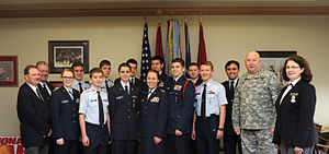Tennessee Wing Civil Air Patrol - Cadets and senior members with the Tennessee Wing Civil Air Patrol got a chance to sit down and talk with Maj. Gen. Haston, Adjutant General of the Tennessee Military Department.