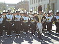 Cal Band en route to Memorial Stadium for 2008 Big Game 07.JPG