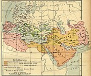 8th century CE: Territory of the Caliphate (1926 map)