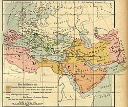 Expansion of the Caliphate to 750 CE. From The Historical Atlas by William R. Shepherd, 1923 Courtesy of The General Libraries, The University of Texas at Austin