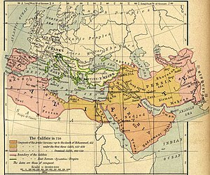 Umayyad Caliphate - The Umayyad Caliphate in 750.
