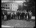 Calvin Coolidge and group outside White House, Washington, D.C. LCCN2016888072.jpg