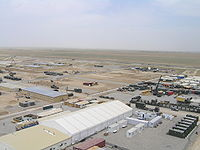Construction of Camp Marmal at Mazar-i-Sharif.