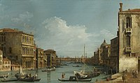 Canaletto (Venice 1697-Venice 1768) - The Grand Canal looking East from Campo San Vio towards the Bacino - RCIN 400518 - Royal Collection.jpg