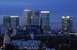 Londres, o centro financeiro da Inglaterra.