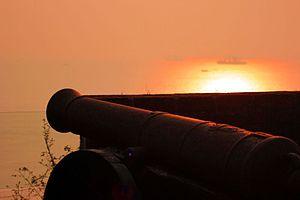 Reis Magos - Cannon at Reis Magos Fort, Goa, India
