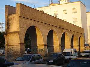 Caños de Carmona - The first surviving section of the Caños de Carmona aqueduct, located on Calle Cigüeña.