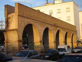 Caños de Carmona - The first surviving section of the Caños de Carmona aqueduct, located on Calle Cigüeña.