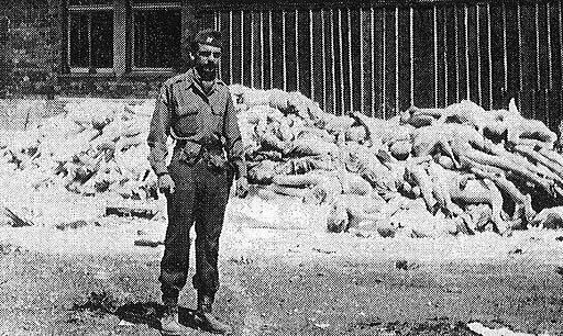 Capt.Alfred de Grazia at Dachau concentration camp, ca May 1st 1945 no border