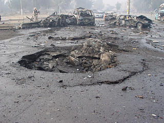 Car bomb improvised explosive device