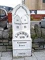 Cardiff Town Milestone - geograph.org.uk - 1422402.jpg