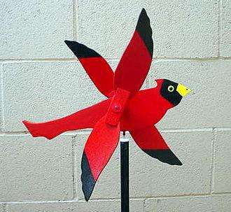 Whirligig - Wooden Cardinal Whirligig.