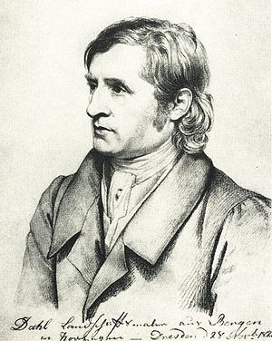 Johan Christian Dahl - Portrait of Johan Christian Dahl  Carl Christian Vogel von Vogelstein (1823)