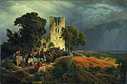 Carl Friedrich Lessing - The Siege (Defense of a Church Courtyard During the Thirty Years' War) - Google Art Project.jpg