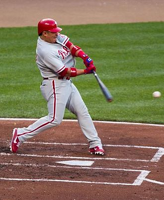 Carlos Ruiz (baseball) - Ruiz hitting in a game against the Baltimore Orioles on June 8, 2012