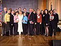 Carolyn Maloney, family members of 911 victims and other key lawmakers attended the bill signing ceremony for the 911 commission bill.jpg