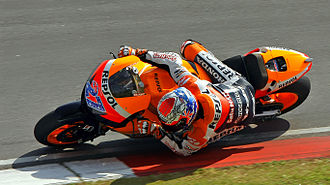 Repsol Honda - Casey Stoner racing for Repsol Honda at the 2011 Malaysian Grand Prix.