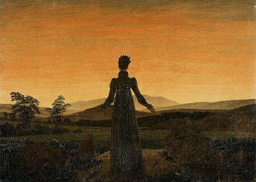 Caspar David Friedrich - Woman before the Rising Sun (Woman before the Setting Sun) - WGA08253