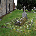 Castle Hedingham, St Nicholas' Church, Essex England, churchyard north grave monument.jpg