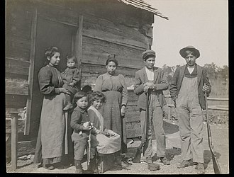 Catawba people - A Catawba family in 1908 South Carolina.