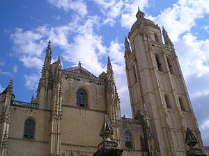 Segovia Cathedral - View of the Facade.