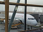 Cathay Dragon A320-232 at Hong Kong International Airport Noth Satellite Concourse.jpg