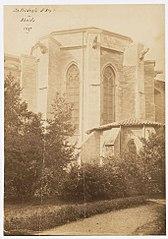 Photographie de la restauration des contreforts de la cathédrale d'Aix-en-Provence