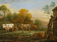 Cattle in a Meadow by Paulus Potter Mauritshuis 138.jpg