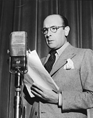 Cedric Hardwicke - on the radio show Three Thirds of the Nation, 3 June 1942