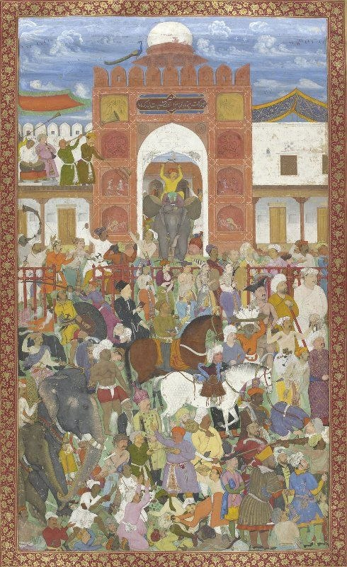 Celebrations at the accession of Jahangir