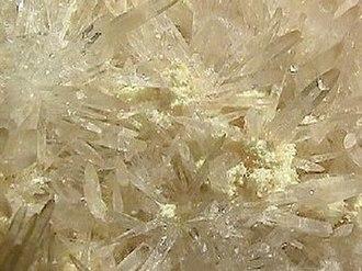 Strontium - The mineral celestine (SrSO4)