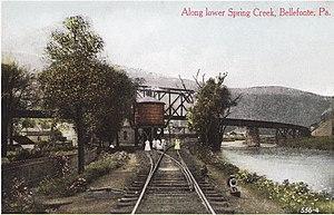 Central Railroad of Pennsylvania (1891–1918) - The Central Railroad's trestle into Bellefonte Furnace