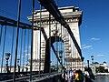 Chain Bridge. Western (or Buda side) pylon. 20130613 Budapest 59.jpg
