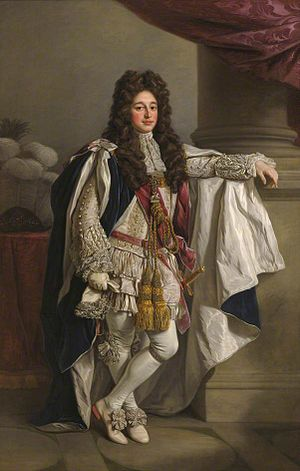 Charles Seymour, 6th Duke of Somerset - Charles Seymour, 6th Duke of Somerset, portrait by Nathaniel Dance-Holland (1735–1811) (presumably a copy, artist aged 13 at sitter's death), collection of Trinity College, Cambridge. He was Chancellor of the University of Cambridge 1689-1748