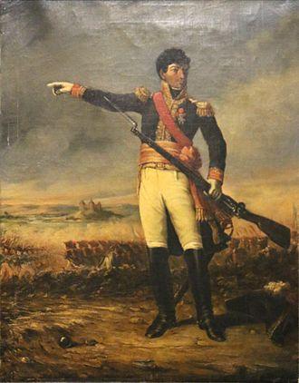 Honoré Théodore Maxime Gazan de la Peyrière - General Gazan at the battle of Dürenstein, 11 November 1805, by Charles Nègre.