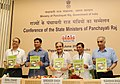 Chaudhary Birender Singh releasing the 1st Outcome Report on MGNREGA for the financial year 2015-16 & 2016-17, at the National Conference of the State Panchayati Raj Ministers, in New Delhi.jpg