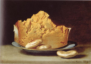 Cheese and crackers - Cheese with Three Crackers, a painting by Raphaelle Peale, 1813