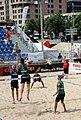 Chevallier-Strasser (SUI) vs Kosiak-Rudol (POL), CEV Beach Volleyball Satellite Lausanne, 27th June 2014 9.jpg