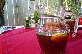 Chicha - Chicha morada served with pipeño, Olmué, Chile