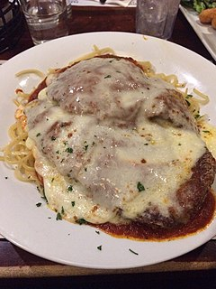 Chicken parmigiana breaded chicken breasts with tomato sauce and cheese