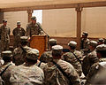 Chief of Staff of the U.S. Army Gen. Raymond T. Odierno, at lectern, speaks to Soldiers at Forward Operating Base Azzizullah in Kandahar province, Afghanistan, Aug. 7, 2013 130807-A-VM825-058.jpg