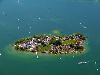 Frauenchiemsee - Frauenchiemsee from above, 2009