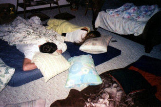 Sleepover - Guests resting at a sleepover