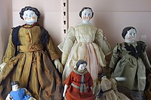 China dolls, 1850-1870 - Fairbanks Museum and Planetarium