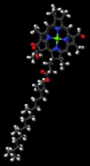 Chlorophyll d - Image: Chlorophyll d 3D balls
