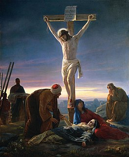Crucifixion Method of capital punishment in which the victim is tied or nailed to a large wooden beam and left to hang until eventual death